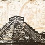 Antique Mayan Pyramid — Stock Vector