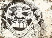 Balinese mask — Stock Vector