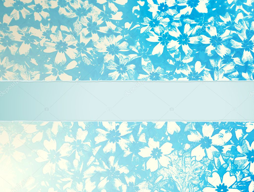 Retro floral pattern vector with place for text — Stock Vector #8317546
