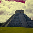 Chichen Itza The main pyramid El Castillo - Stock Photo