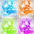 Intensive colors background - abstract Vector set — Stock Vector