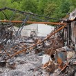 Foto of fire accident broken old building — Stock Photo