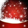 Red christmas background with christmas tree eps — Image vectorielle