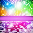 Intensive rainbow colors background - abstract vector — Vector de stock #8405711