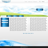 Webseite — Stockvektor