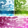 Intensive colors background set - abstract vector - Stock Vector