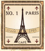 Grungy parisian coffee background — Stock Photo