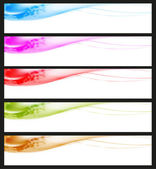 Smooth banners or web site headers — Stock Vector