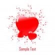 Royalty-Free Stock Vector Image: Hearts background vector for valentin day and xmas
