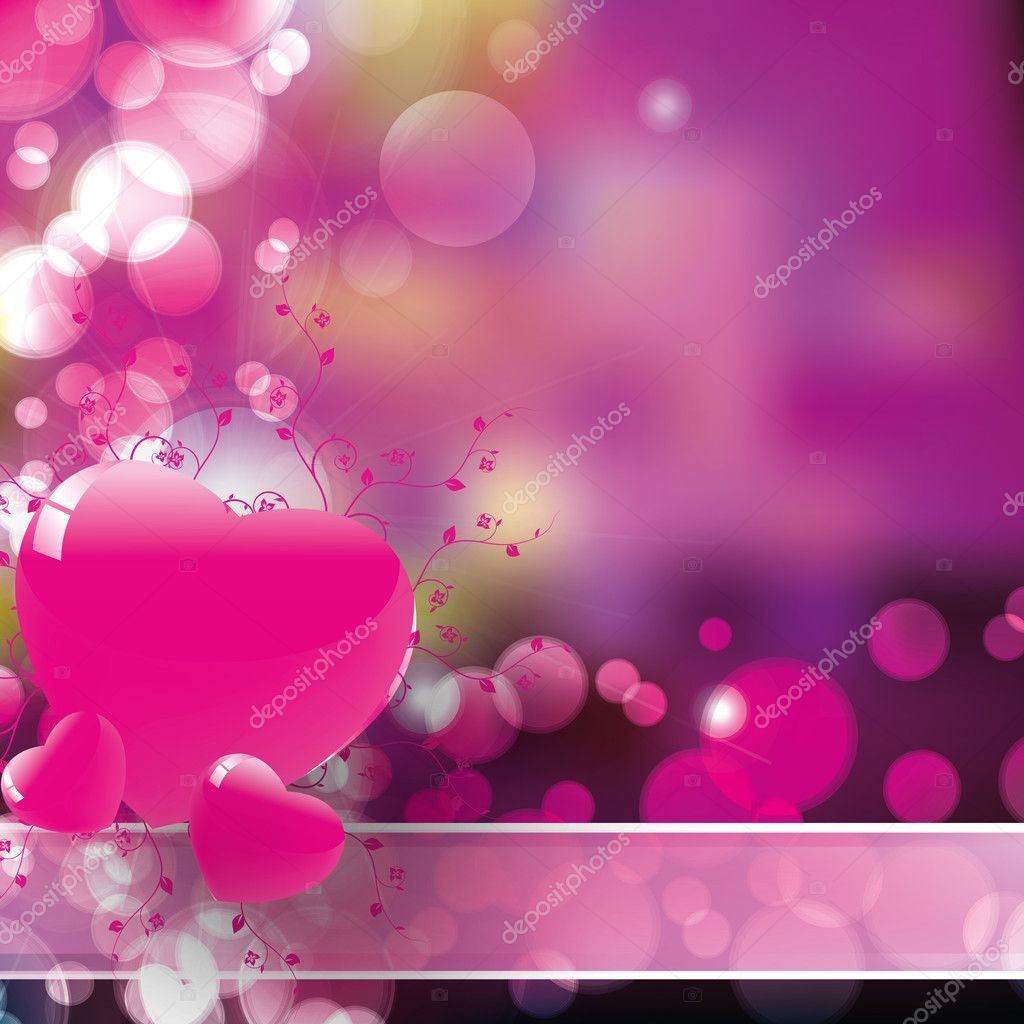 Hearts background vector for valentin day and xmas — Stock Vector #8535836