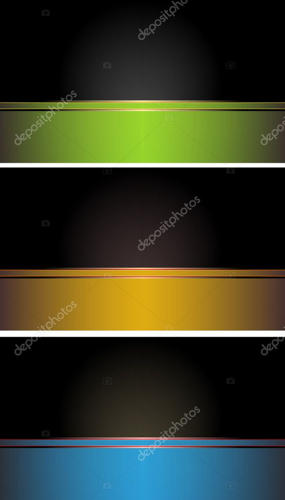 Set of colorful  business cards — Imagen vectorial #8623363