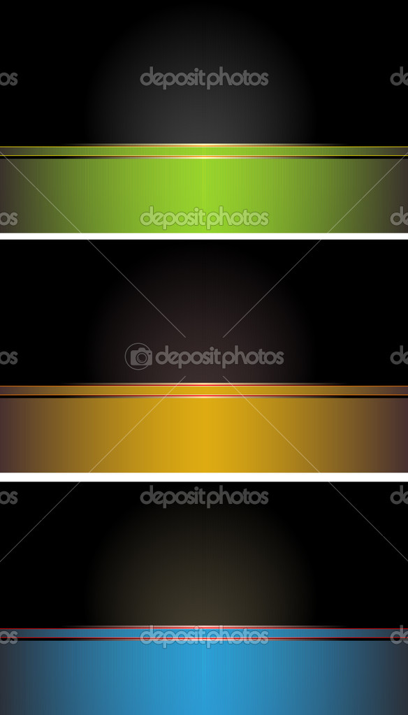 Set of colorful  business cards — Vettoriali Stock  #8623363