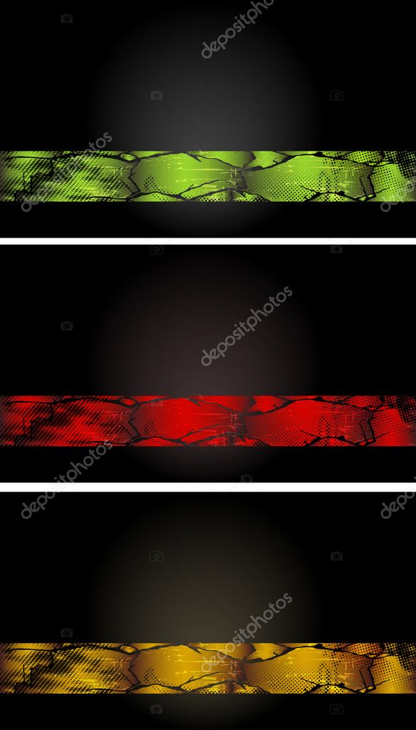 Set of colored banners EPS 10  Stock Vector #8623393