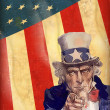 Patriotic usa background with uncle sam - Grafika wektorowa
