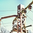 Electrical tower-Retro — Stock Photo