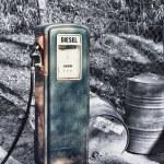 Vintage petrol pump face — Stock Photo