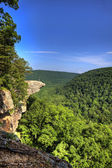Hawksbill Crag Hiker — Stock Photo