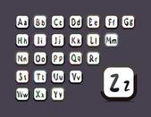 English alphabet — Vettoriale Stock