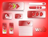 éléments de conception web — Vecteur