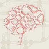 Circuit board form of brain — Stock Vector
