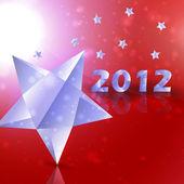 Étoiles 2012 année vector background — Vecteur
