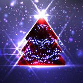 Abstrakter weihnachtsbaum — Stockvektor