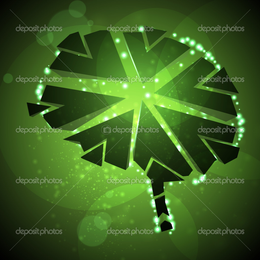 Brain crushing, abstract light background, vector illustration eps10 — Stock Vector #8031711
