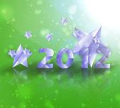 Year 2012 stars vector background — Stock Vector