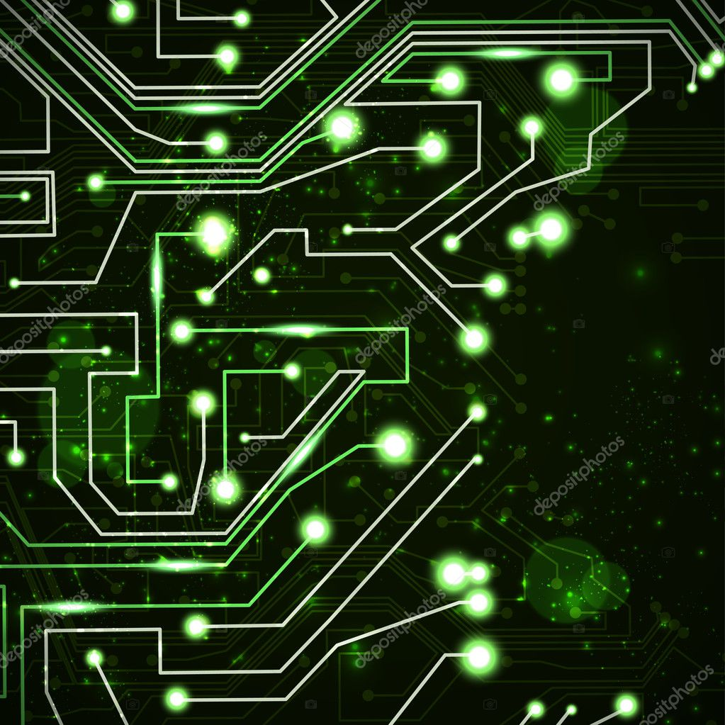 Circuit board vector background, technology illustration eps10  Stock Vector #8104881