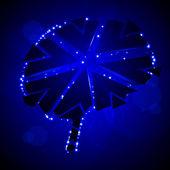 Drcení mozku — Stock vektor