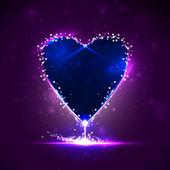 Corazón futurista — Vector de stock