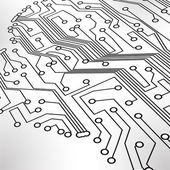 Circuit board vector background — Vector de stock
