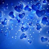 Valentine's Hearts background — Stock Vector