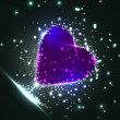 Futuristic heart, abstract background - Stock vektor