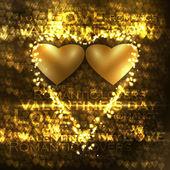 Vector valentine's hearts illustration — Stock Vector