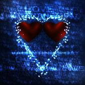Vector valentine's hearts illustration — Vettoriale Stock