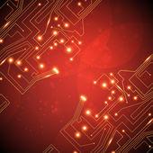 Circuit board vector background — Stock Vector