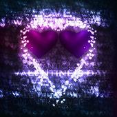 Vector valentines hearts illustration — Stock Vector