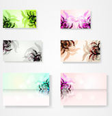 Set for floral vector background — Stock Vector