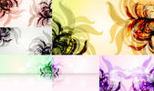 Set for floral vector background — Vector de stock