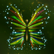 Royalty-Free Stock Imagen vectorial: Shiny butterfly