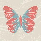 Retro kelebek — Stok Vektör