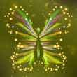 Vector de stock : Shiny Butterfly