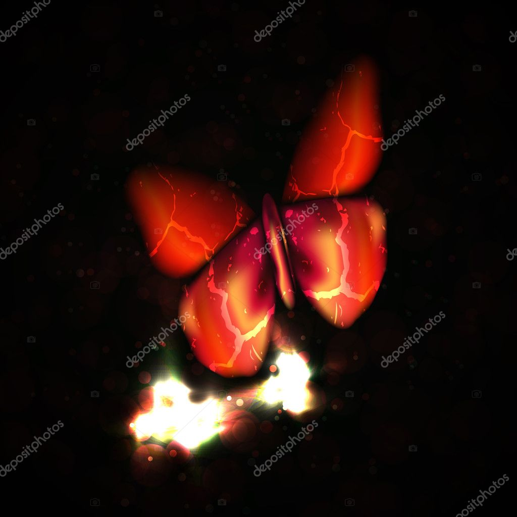 Shiny abstract butterfly, futuristic colorful vector illustration eps10 — Stock Vector #9449777