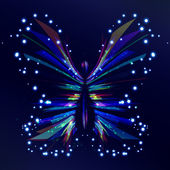 Shiny Butterfly — Stock Vector