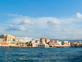View of venetian bay in Chania — Stock Photo