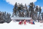 SARIKAMIS, TURKEY - MARCH 3: Apres-ski in cafe — Stock Photo