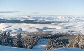 查看从黑色滑雪路线到 sarikamis — 图库照片