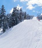 View on ski route in Sarikamis — Stock Photo