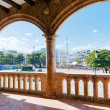 View on Plaza de España from Alcazar de Colon (Palacio de Diego — Stock Photo